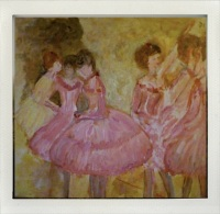 Here's my latest painting of one of Edgar Degas' ballerinas commissioned for a friend.