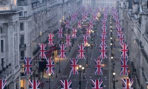 Flags at Royal Wedding